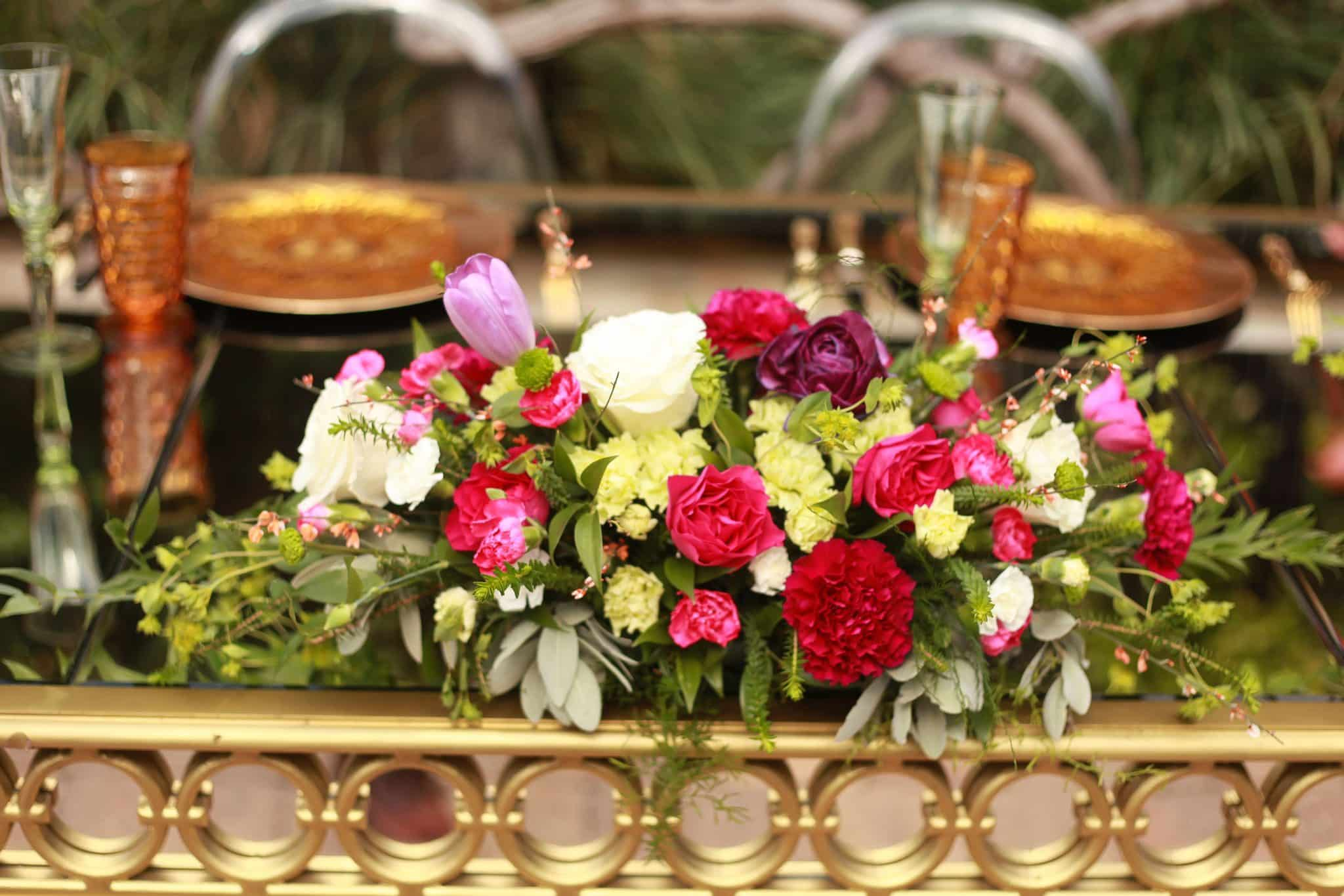 Colorful table design by Miami Event Planner, The Affinity Group International