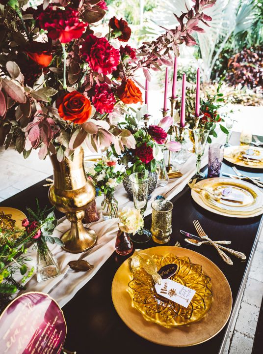 colorful table design